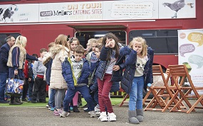 The bus will visit children as a treat