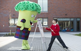 Broccoli Bill makes first visit to Cordia school