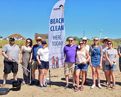 Elior cleans up at Sand Bay beach