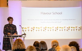 Kate Morris and Sally Brown introduced the idea of shaping food habits from as young as two