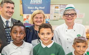 Primary school gets a visit from Tilda Foodservice