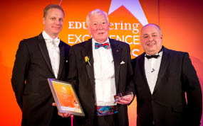 Vic Laws MBE wins EDUcatering Lifetime Achievement Award